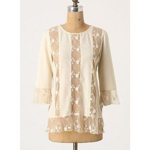 Anthropologie By Gryphon Camellia Lace Blouse